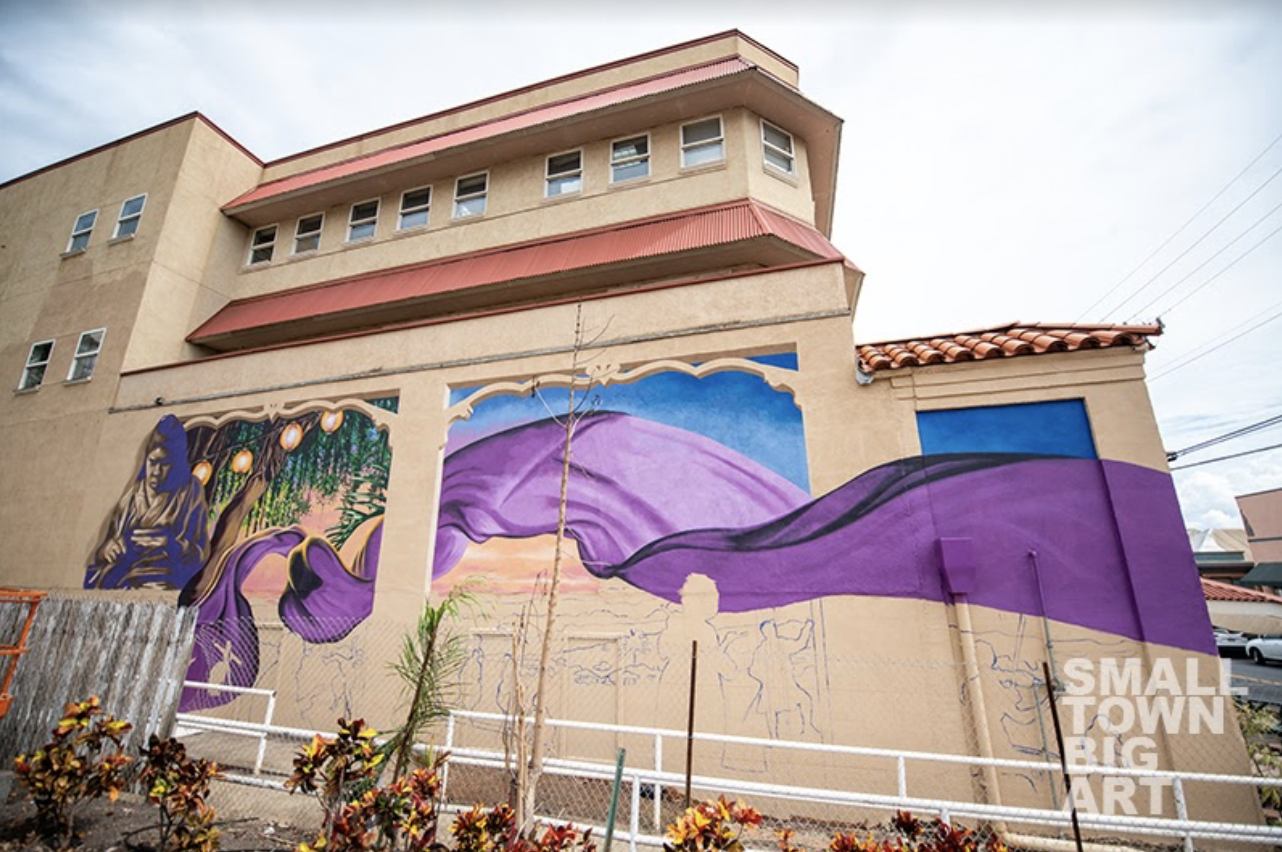 SMALL TOWN * BIG ART Nears Completion of New Wailuku Mural