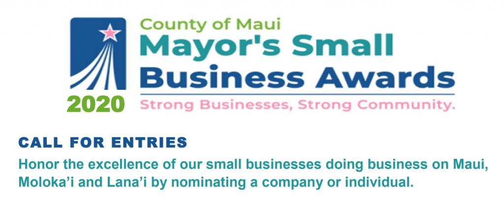 Mayorʻs Small Business Awards 2020