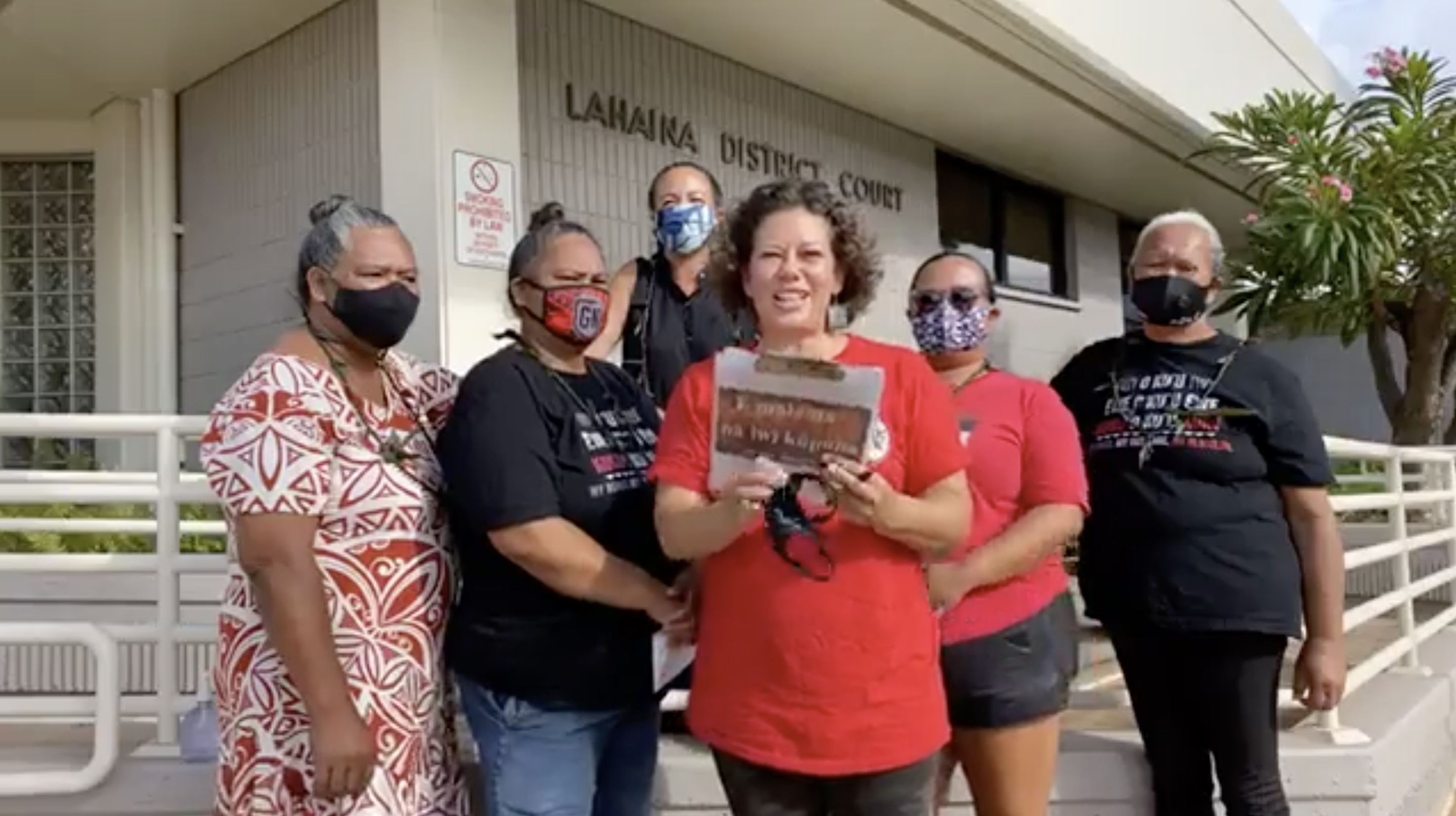 Charges Dropped Against Five Women Arrested in Demonstration at West Maui Site