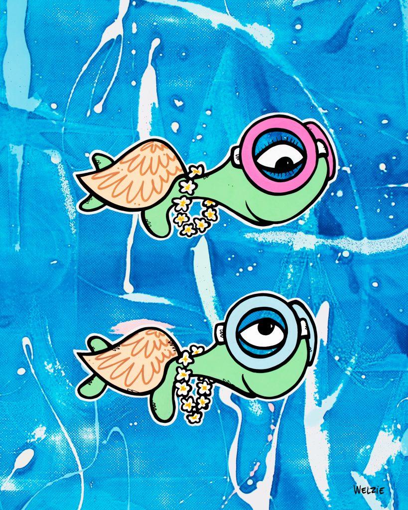 Welzie art of two turtles