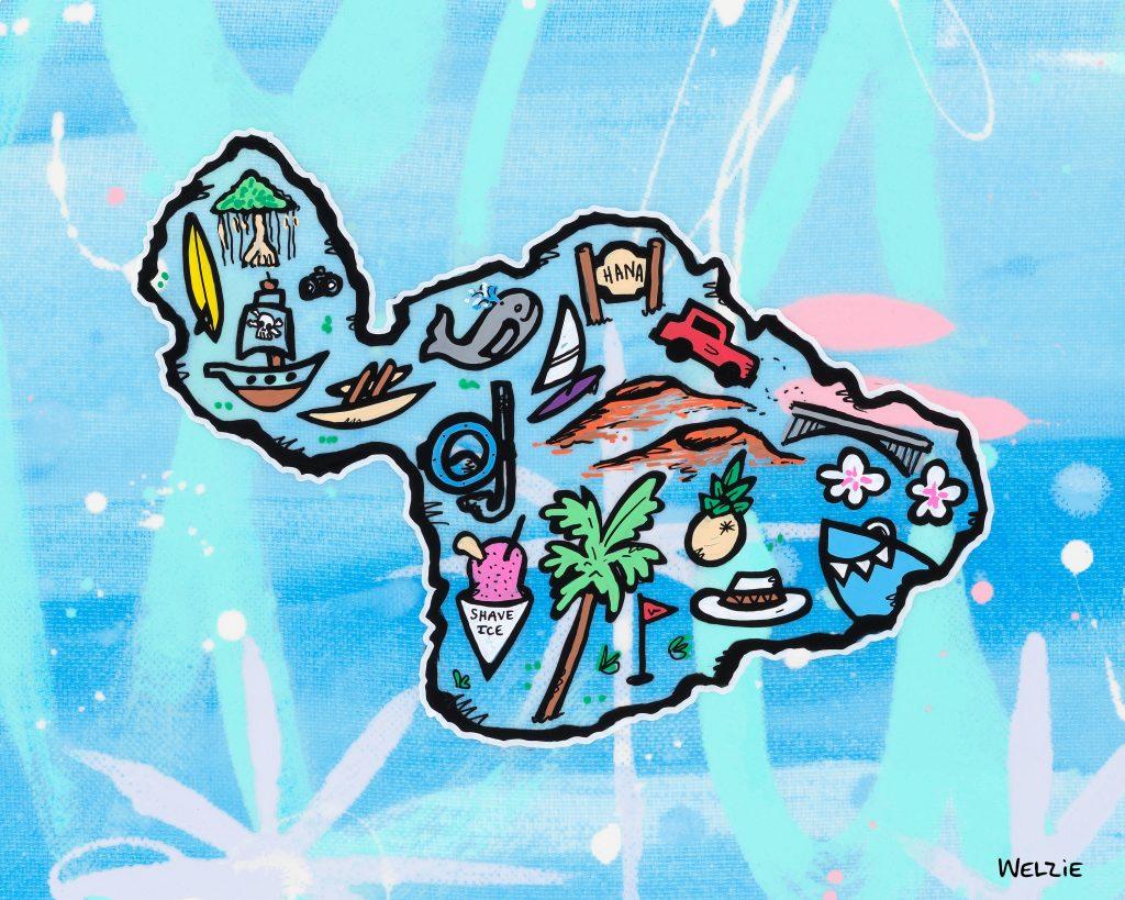 Welzie Maui map