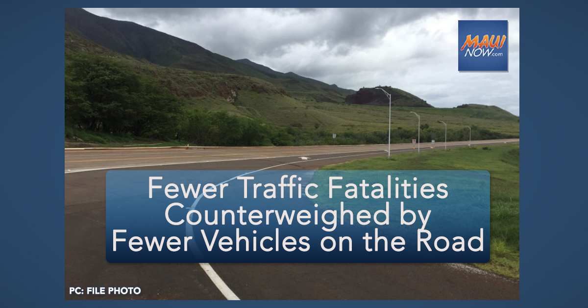 Fewer Traffic Fatalities Year-to-Date, Counterweighed by Fewer Vehicles on the Road