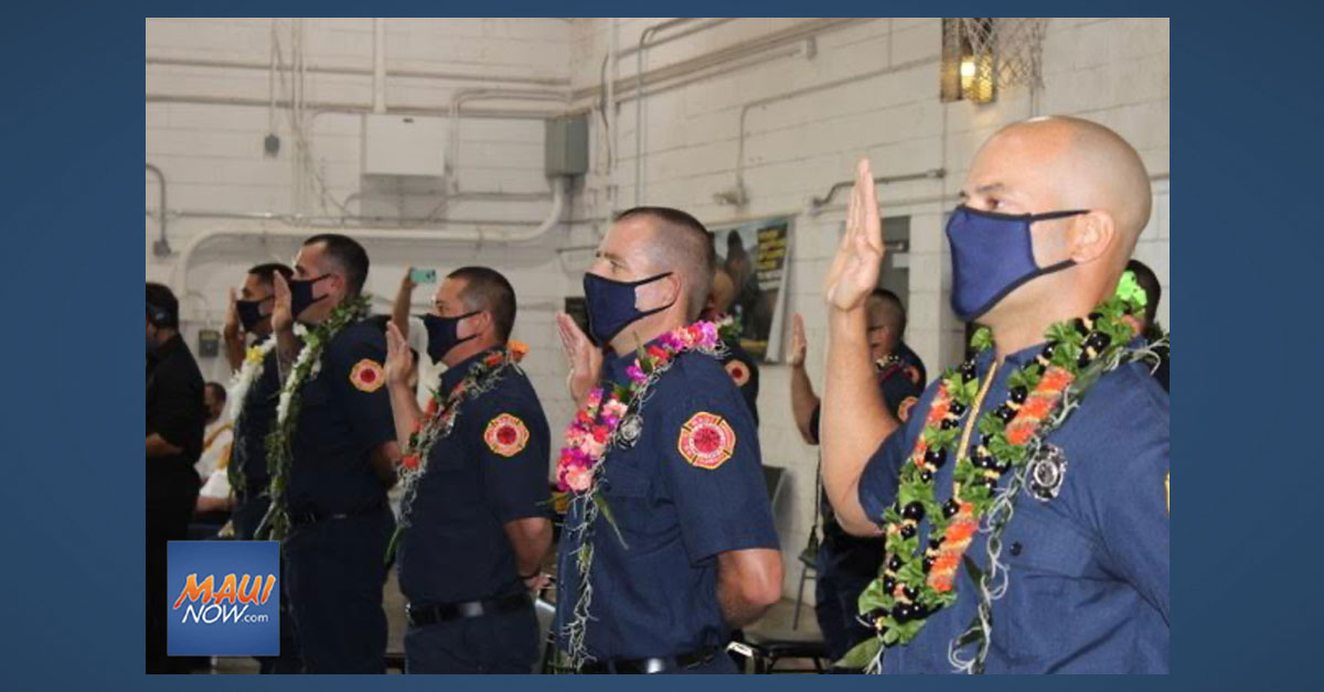 Nineteen Recruit Graduates Joint Maui Fire Department Ranks