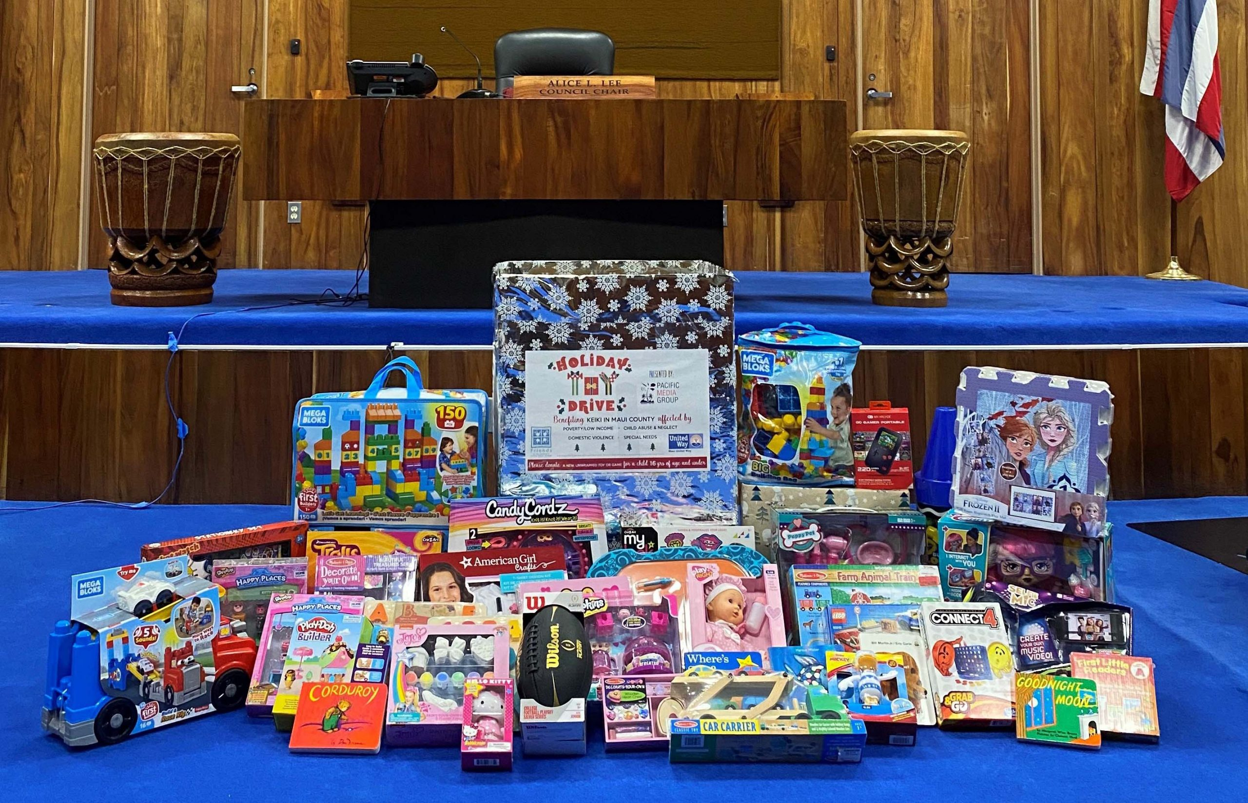 Maui County Council Collects Toys for Children in Need