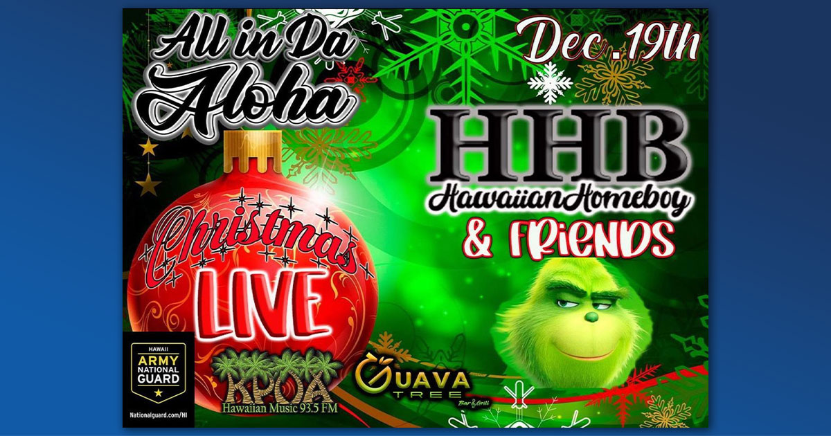 All in Da Aloha to Live Stream Christmas Concert, Dec. 19
