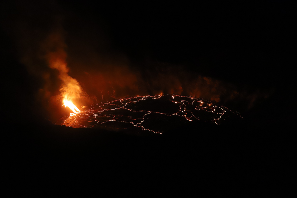 Kīlauea Volcano's West Vent Erupting More Vigorously Overnight While North Vent Quieted