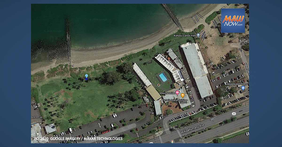 High Bacteria Count Notification East of Hoaloha Park in Kahului, Maui