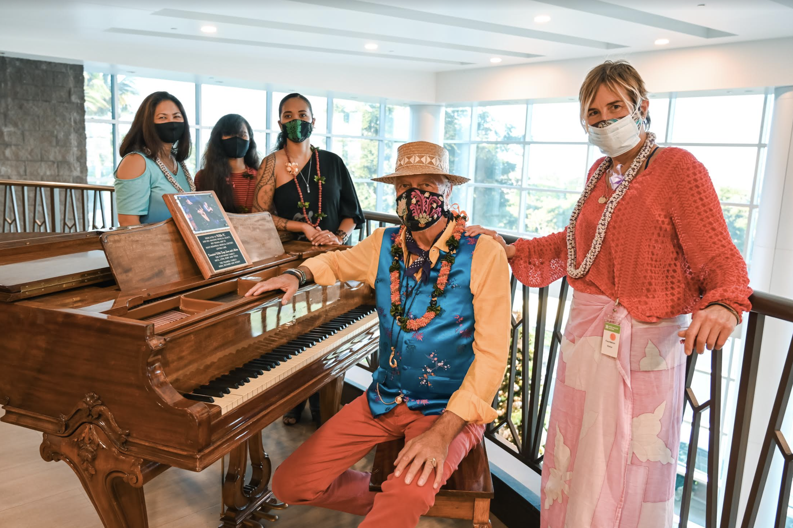 Mick Fleetwood Donates Piano to Maui Health in Honor of Late Musician Willie K.