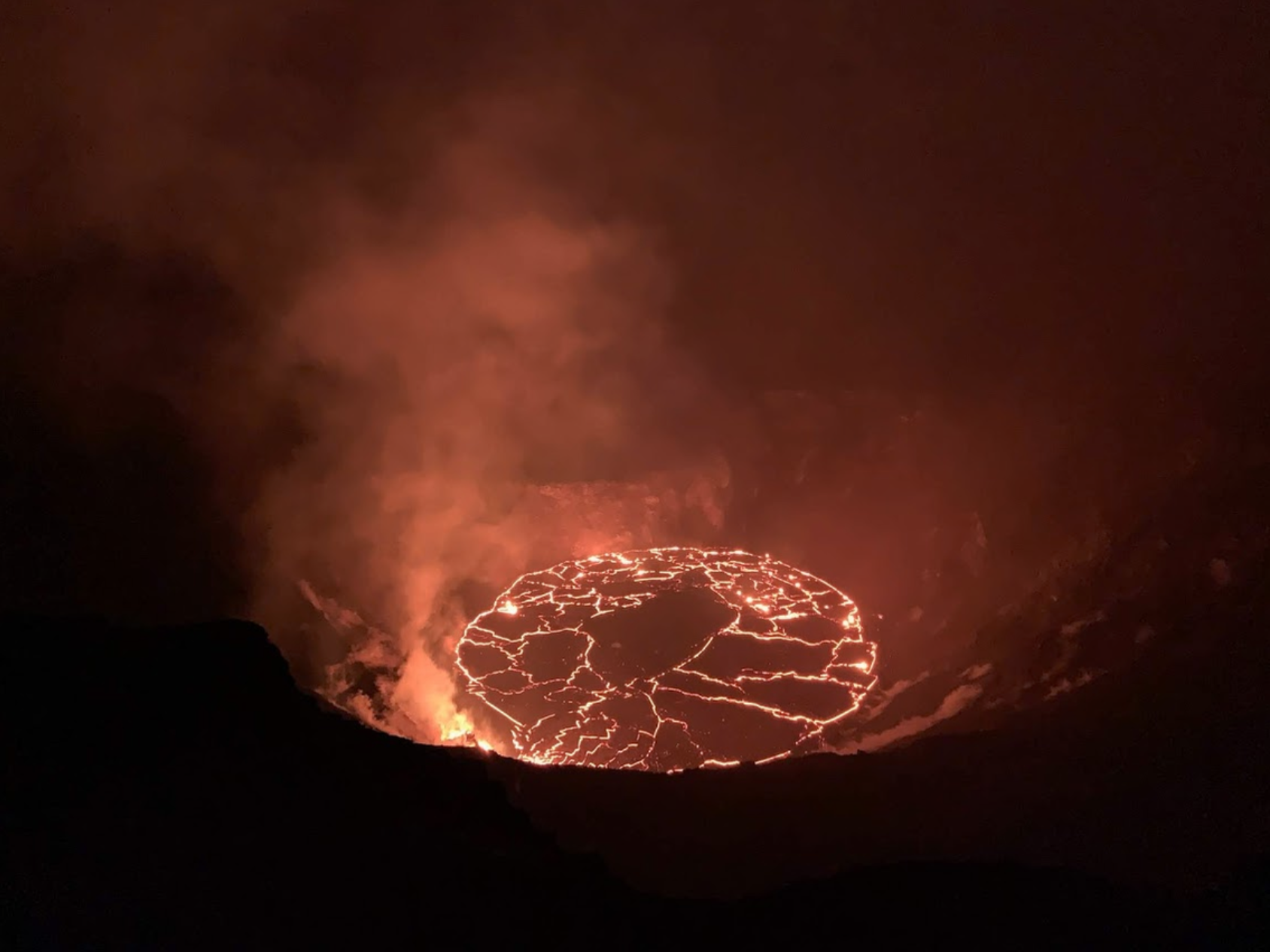 Lava Lake at Kīlauea Volcano Spans 72 Acres and is 558 Feet Deep
