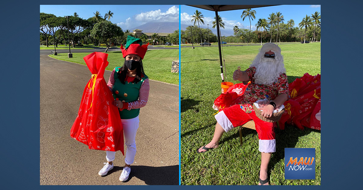 Four Seasons Resort Maui Hosts Drive-Through Holiday Keiki Party