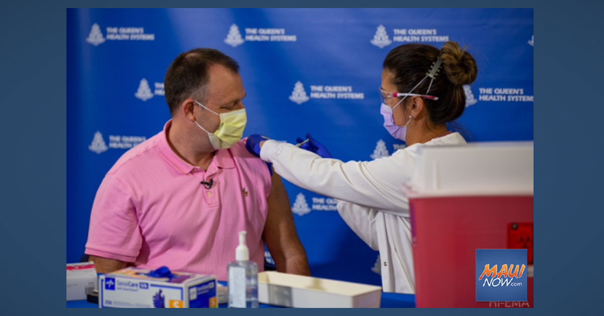 Lt. Governor Receives COVID-19 Vaccine
