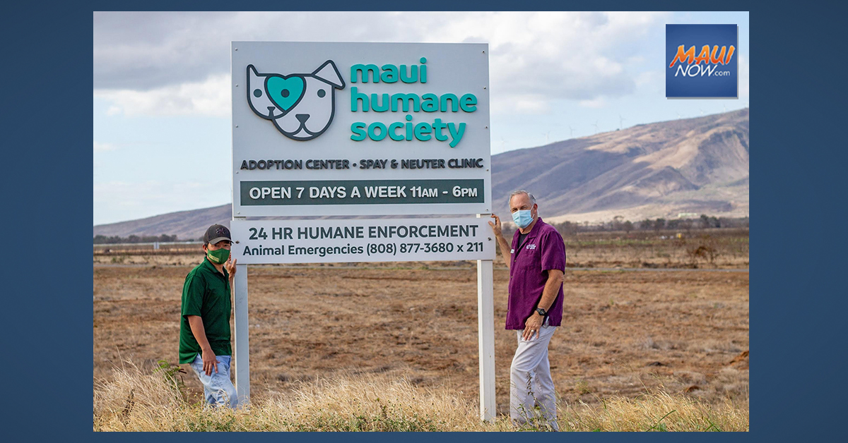 Mahi Pono Sets Aside Three Acres For Future Expansion  of Maui Humane Society