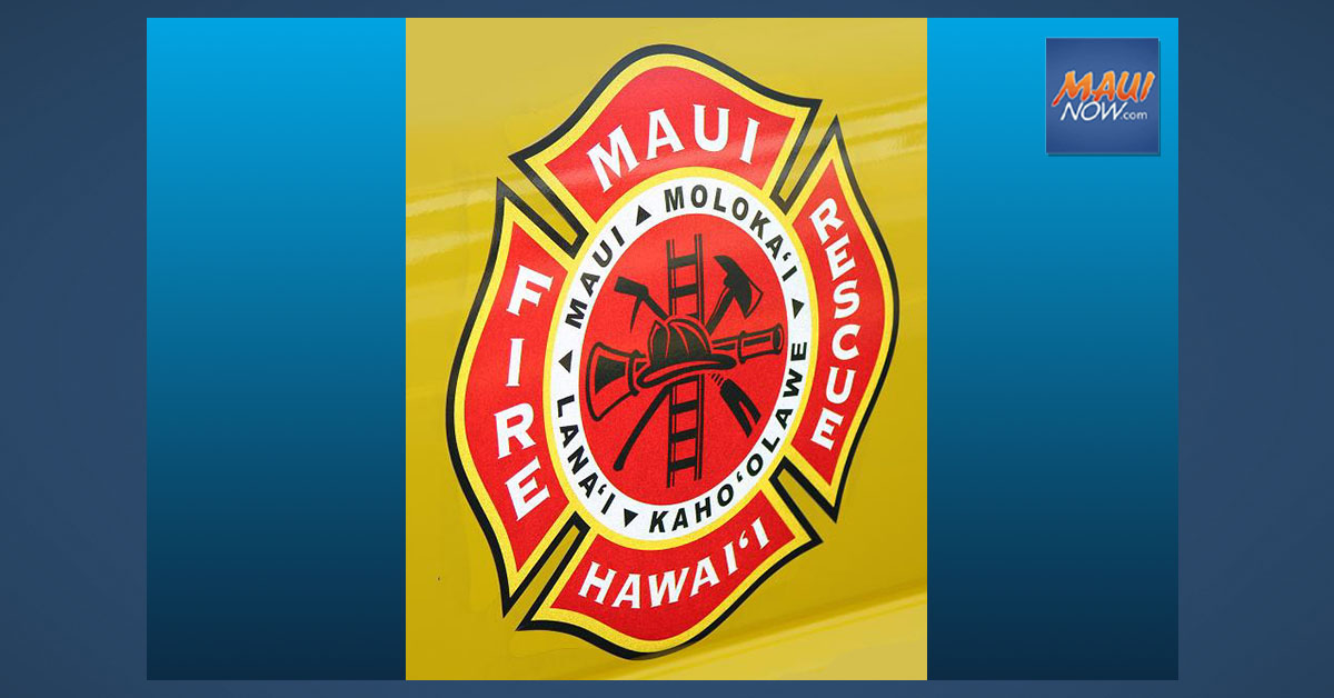 Fire Destroys Shed in Kīhei, One Person Treated for Burns