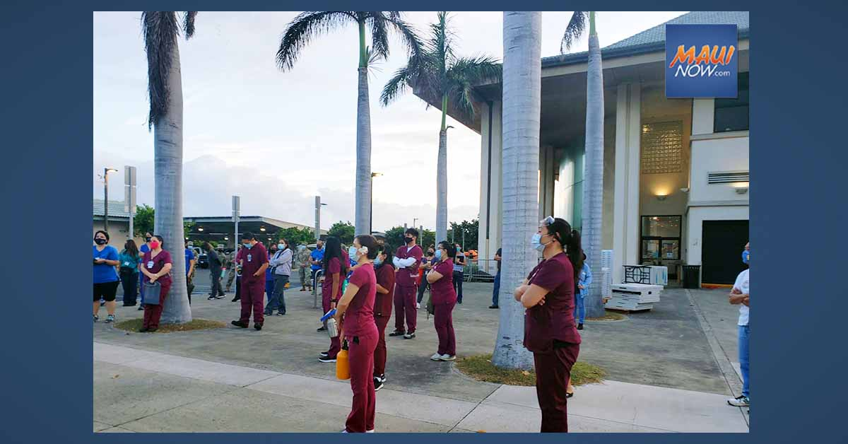 COVID-19 Vaccine Distribution Trial Run Conducted at UH Maui College