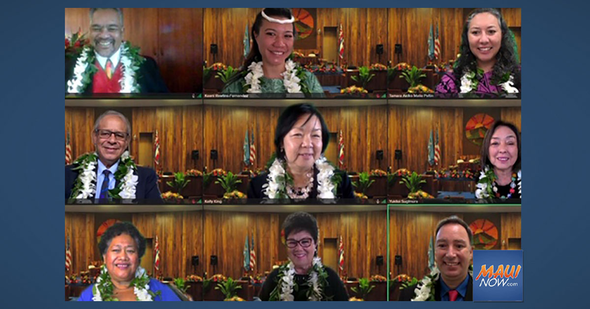 Maui Council Approves Leadership and Committees for New 2021-2023 Term