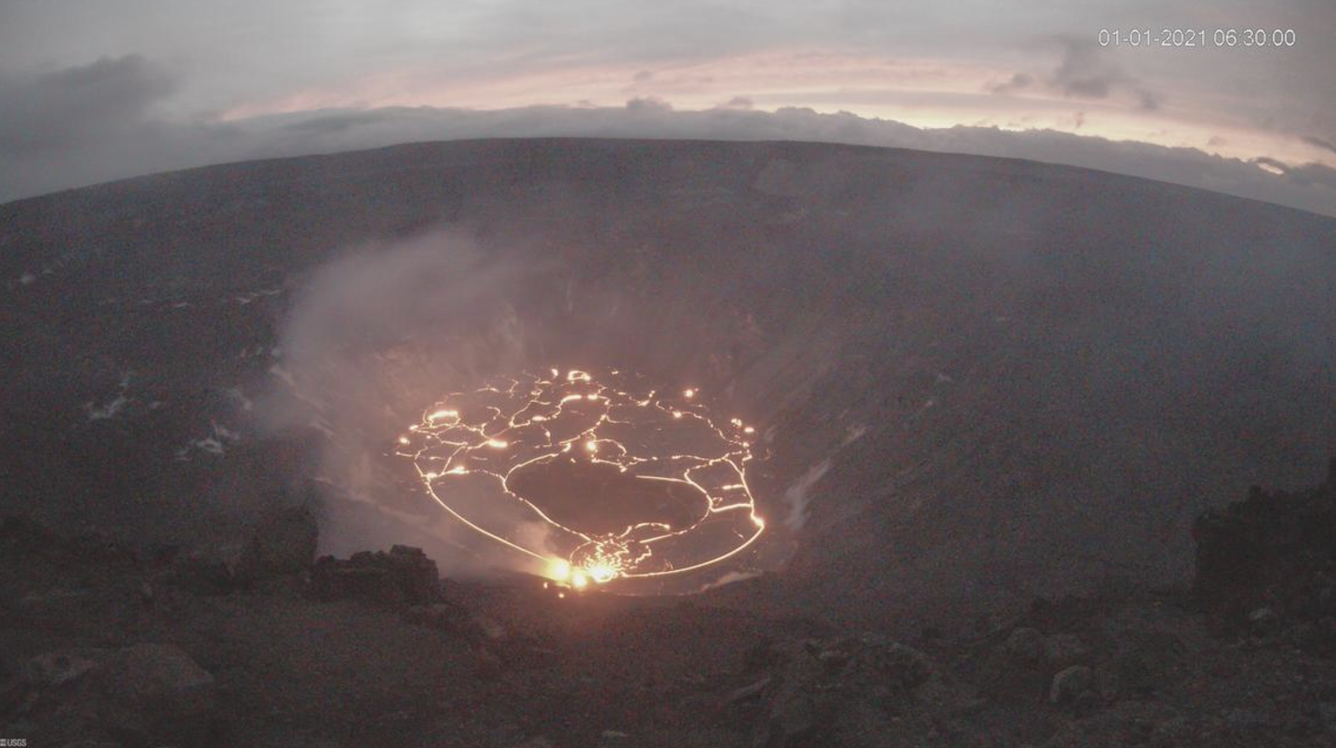 Lava Lake at Kīlauea Volcano is 82 Acres, 623 Feet Deep