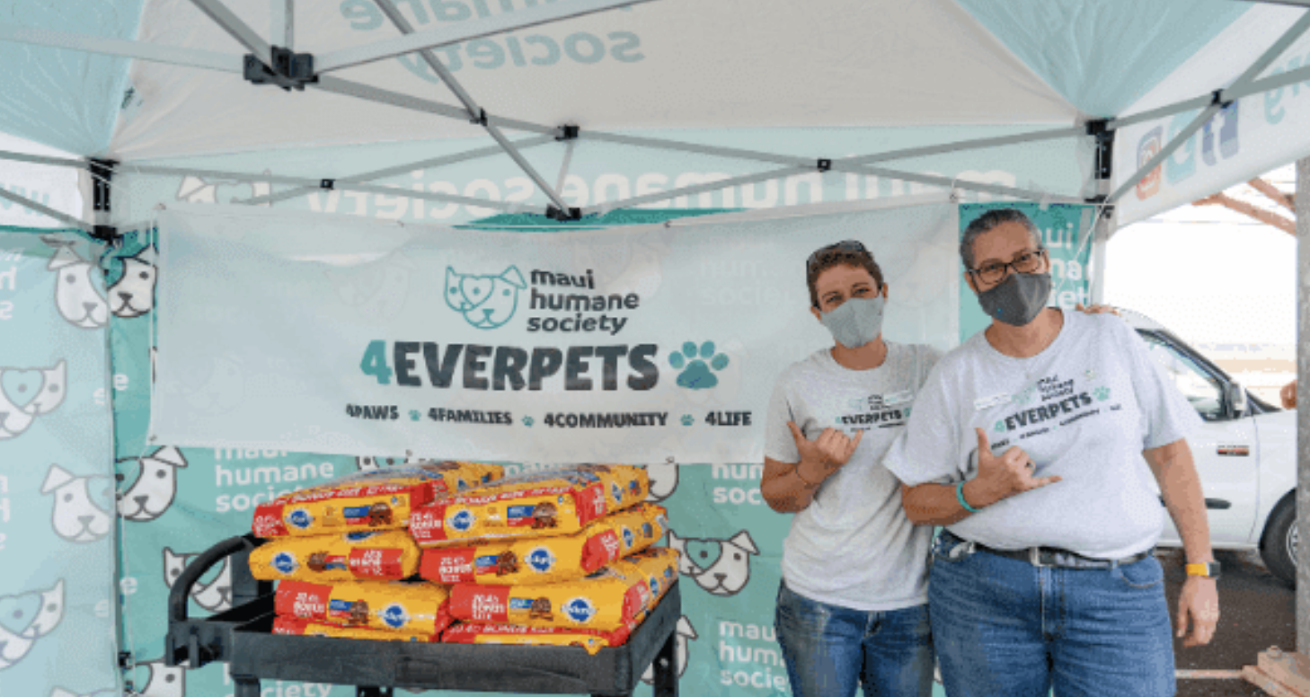 Maui Humane Society's Program Distributes 30,000 Pounds of Pet Food
