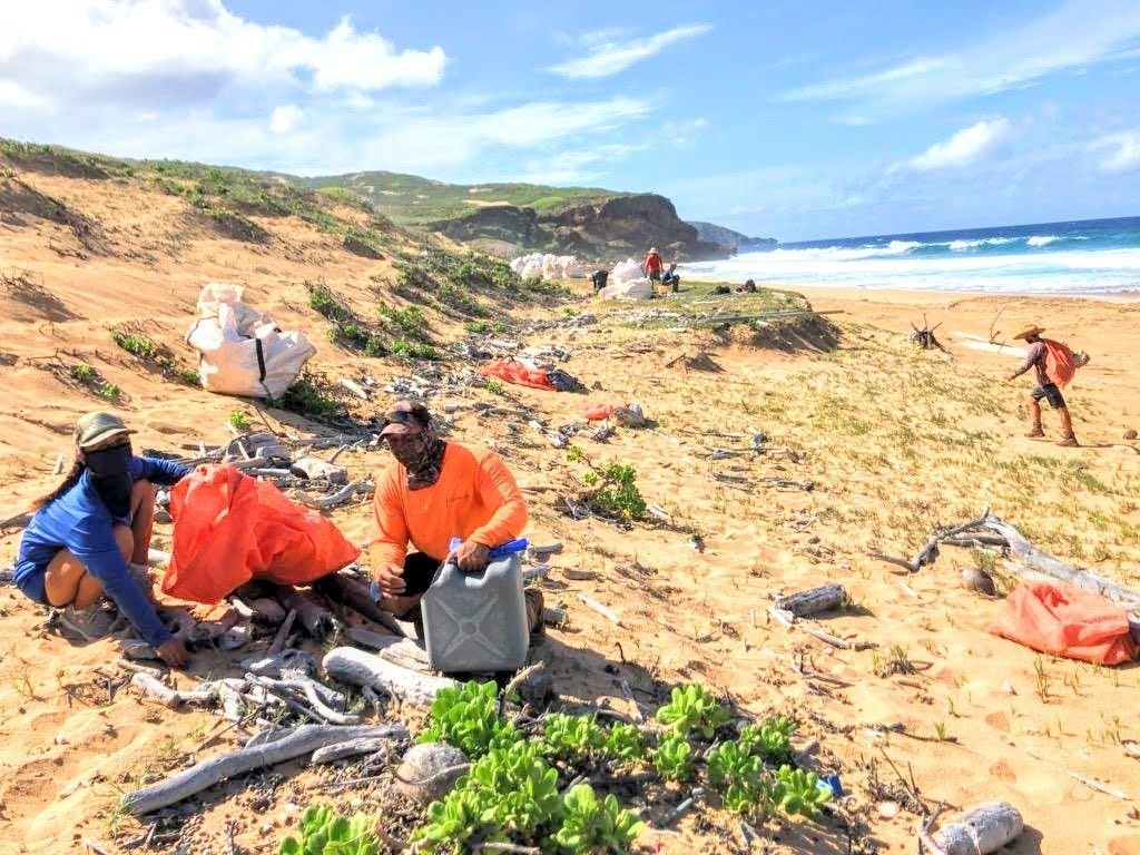 46,000 Pounds of Marine Debris Removed from Molokaʻi's Remote Beaches