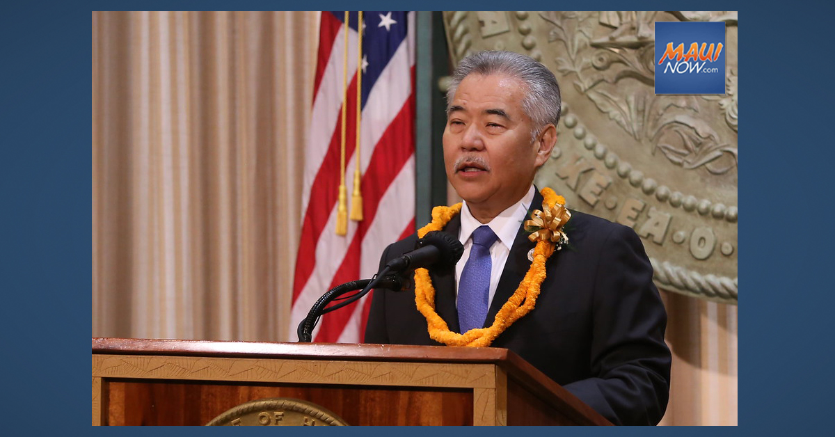 Gov. Ige Delivers 2021 State of the State Address