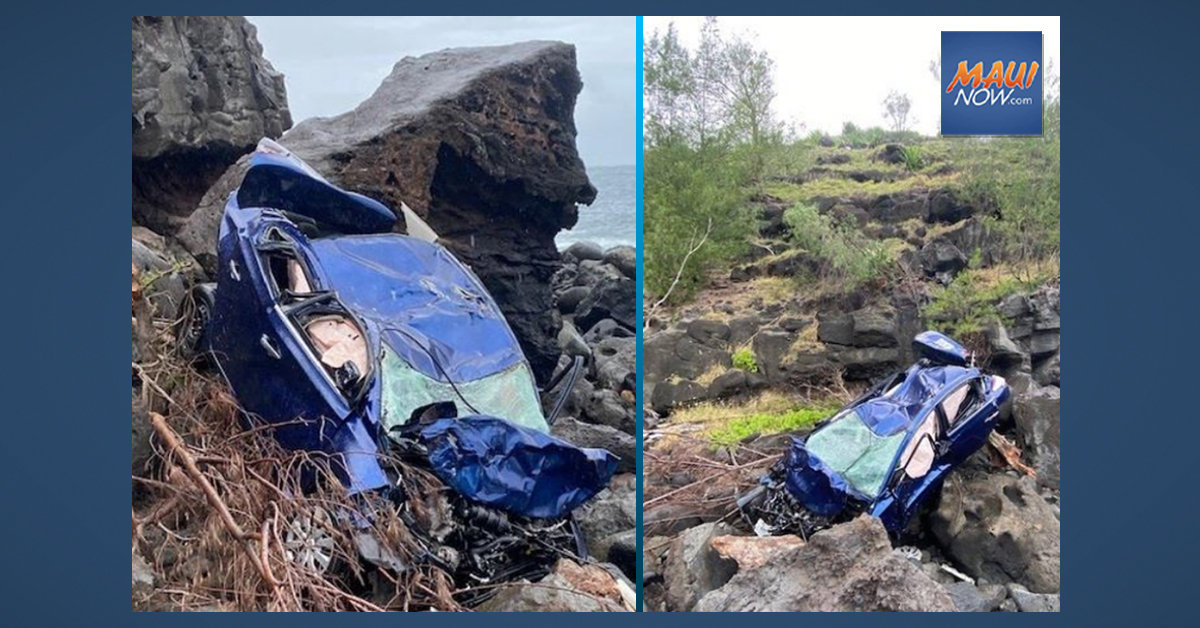 Vehicle Plunges 200 Feet Off Kahakuloa Cliff on Maui, Claims Life of Driver