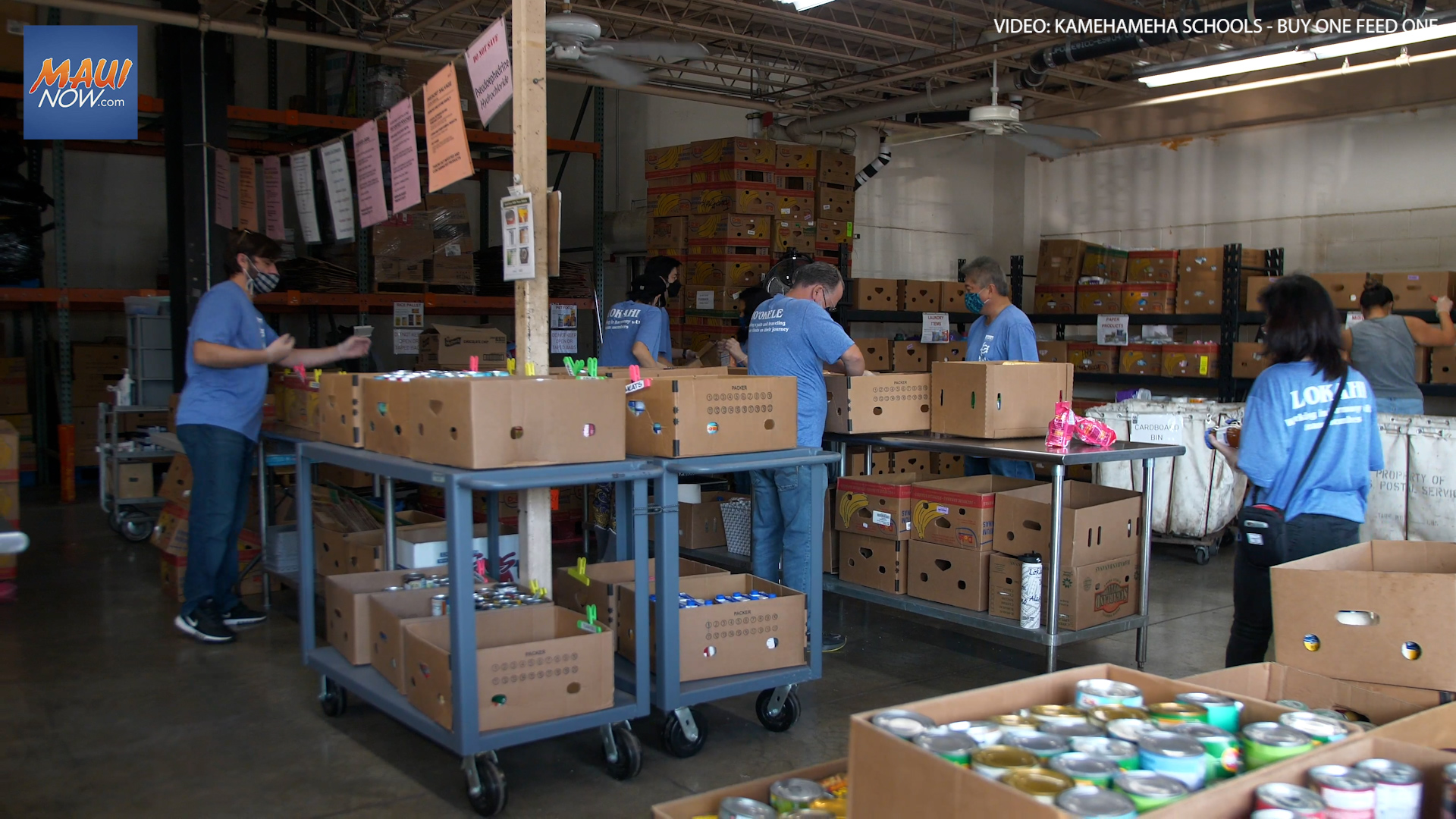 Kamehameha Schools' Buy One, Feed One Campaign Donates $40,000 to the Hawaiʻi Foodbank