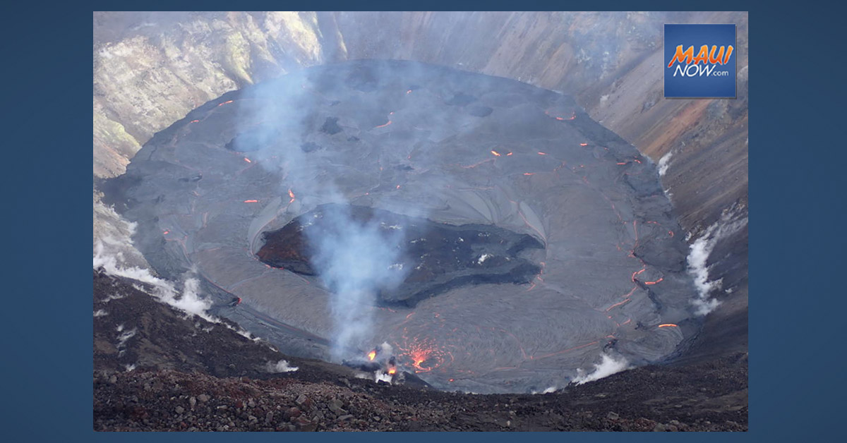 Kīlauea Volcano Update: Seven Acre Island of Solidified Lava Continues to Settle
