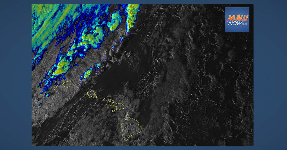 Wet Weather to Stall Around Maui Between Monday and Tuesday