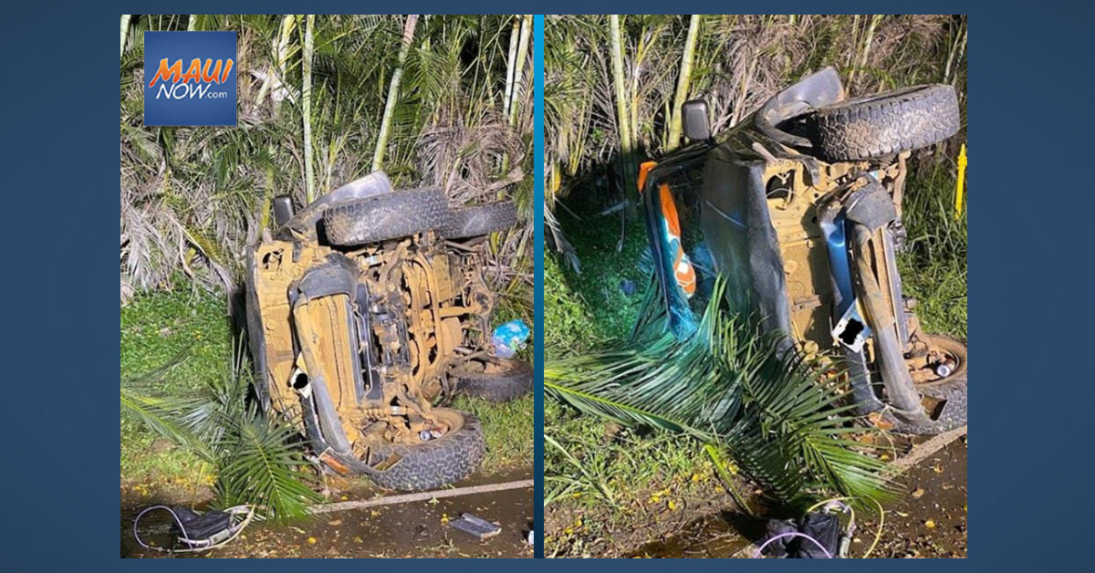 Maui Man Succumbs to Injuries From New Year's Eve Crash in Haʻikū