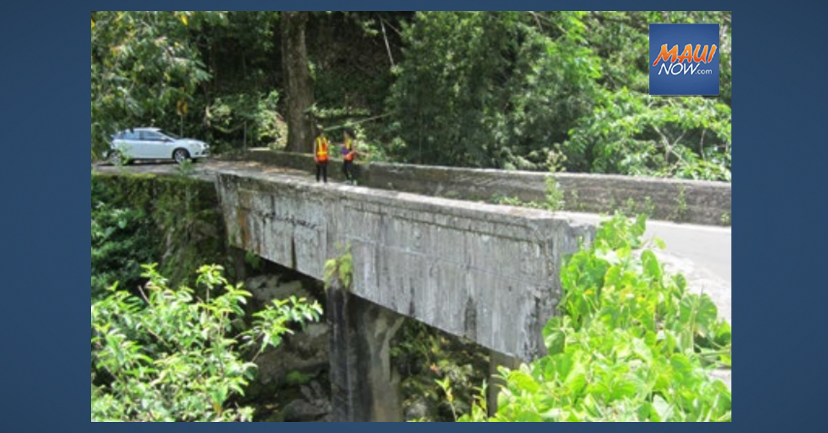 Evaluation of 110-Year Old East Maui Bridges Set to Begin