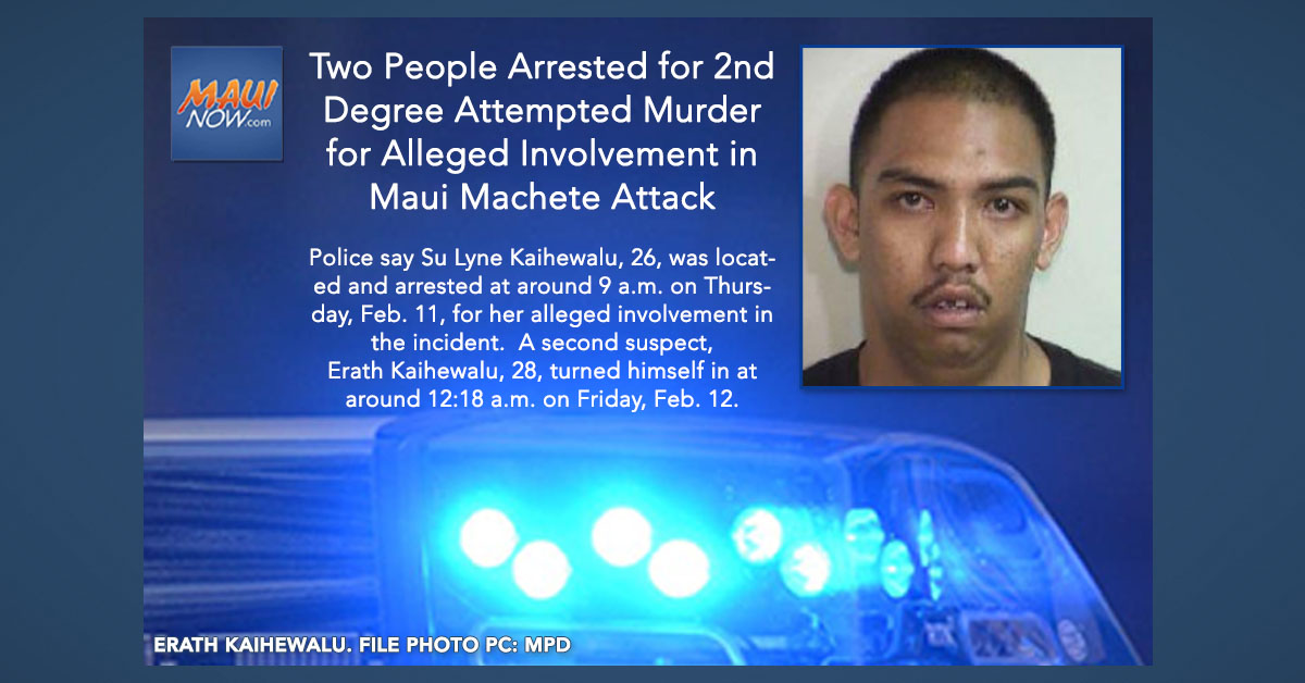 Two Second Degree Attempted Murder Arrests for Alleged Involvement in Maui Machete Attack