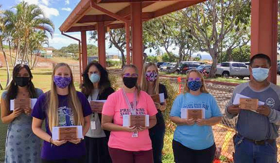 Duke's Beach House Recognizes Teachers at Princess Nāhiʻenaʻena Elementary School