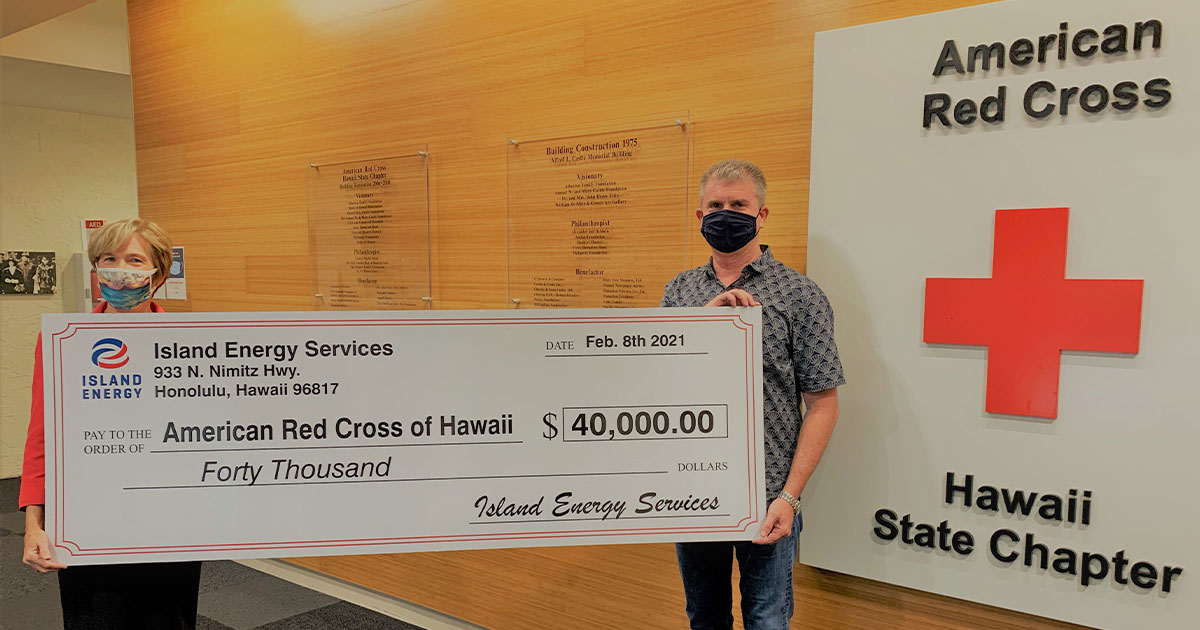 Island Energy/Texaco in Hawai'i Donates $40,000 to American Red Cross