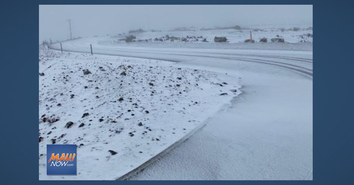 Snow Graces Haleakalā