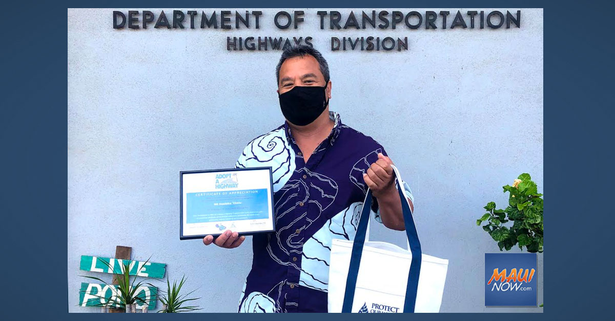 Restaurant Group Nā Hoaloha 'Ekolu Recognized by Adopt-A-Highway Program