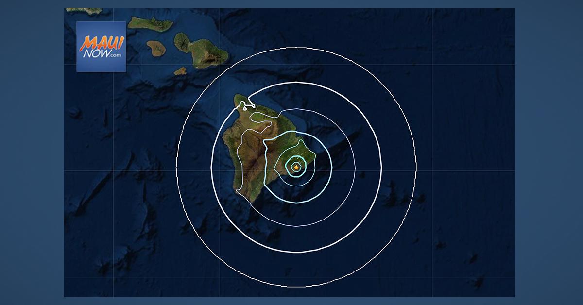 4.1 Kīlauea Earthquake Consistent with Motion Along South Flank Detachment Fault