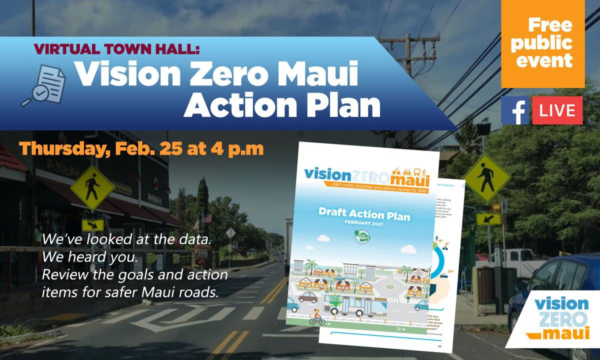 Vision Zero Action Plan Presented in Virtual Town Hall, Feb. 25