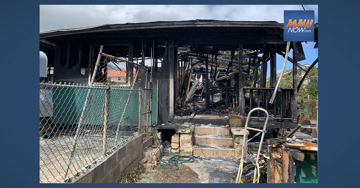 Wailuku Structure Fire Results in $130,000 in Damage