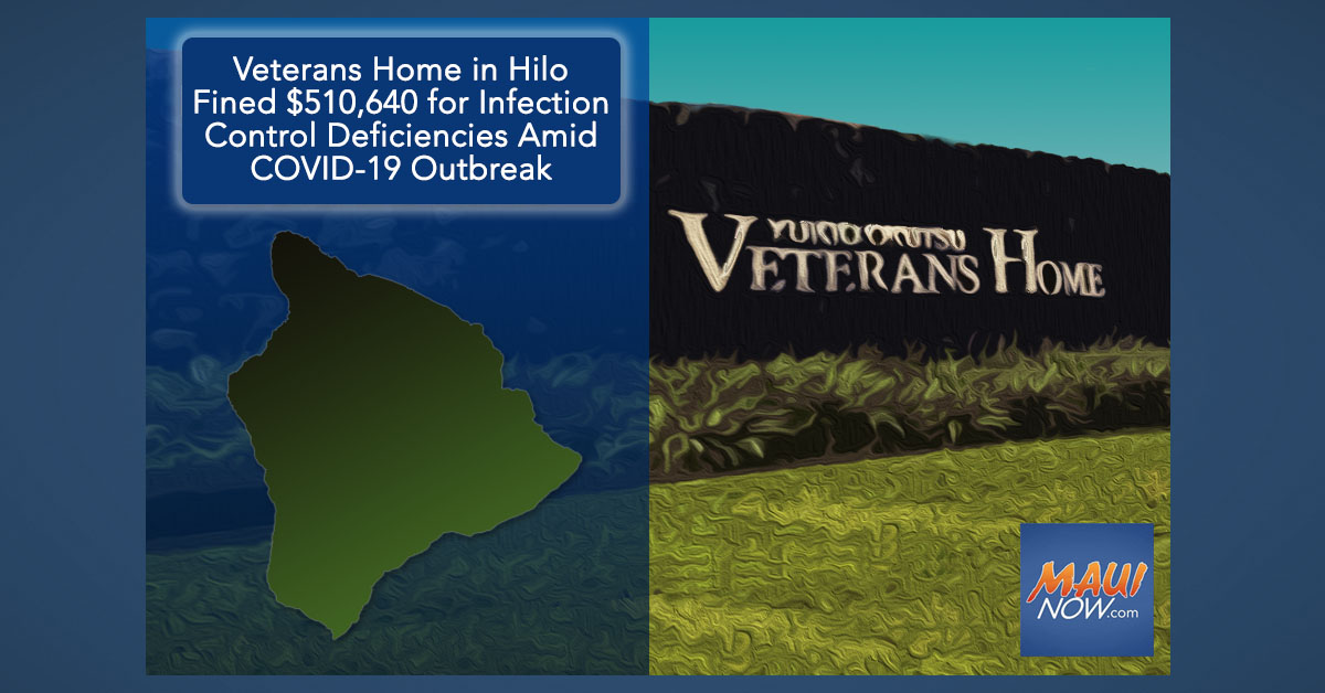 Veterans Home in Hilo Fined $510,640 for Infection Control Deficiencies Amid COVID-19 Outbreak