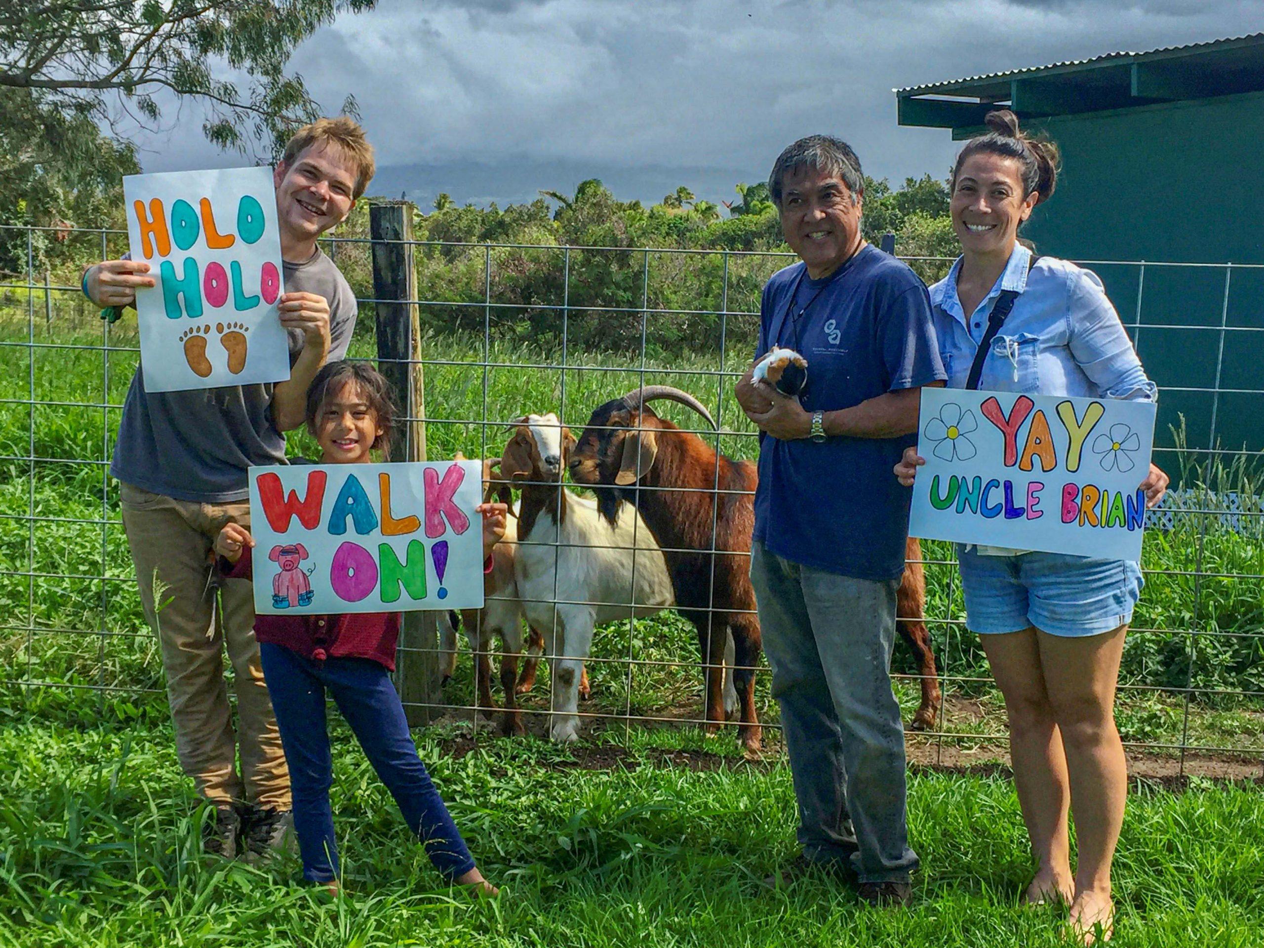 Brian Sato Walking 165 Miles Around Island To Support The Maui Farm's Family Programs