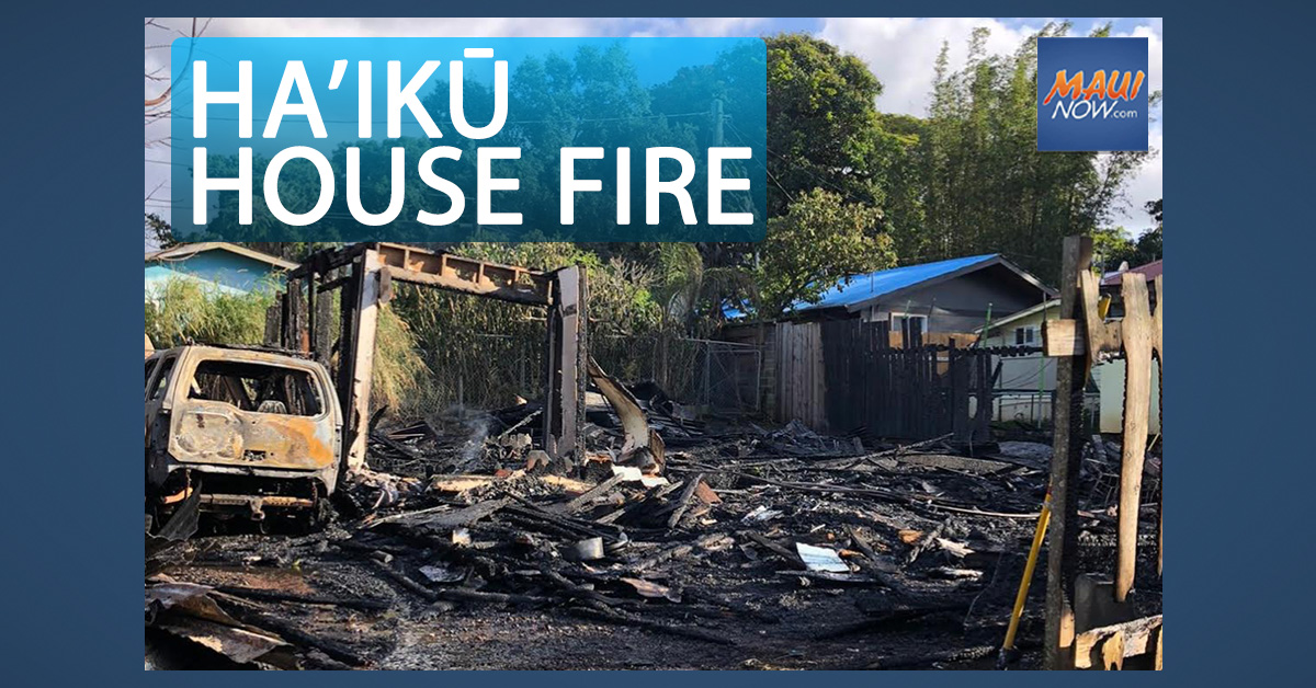 Red Cross Assisting Occupant Displaced by Haiʻkū House Fire