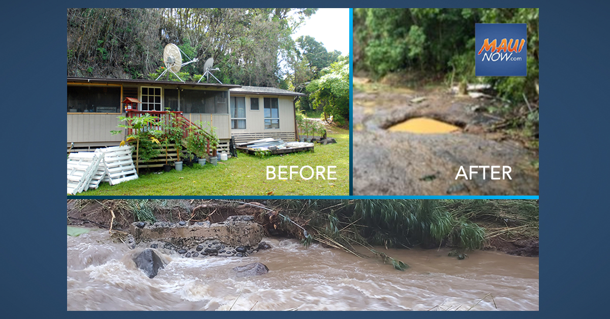 "Kaupakalua Farm House on Maui Swept Away by Flood: ""There's Literally No Trace"""