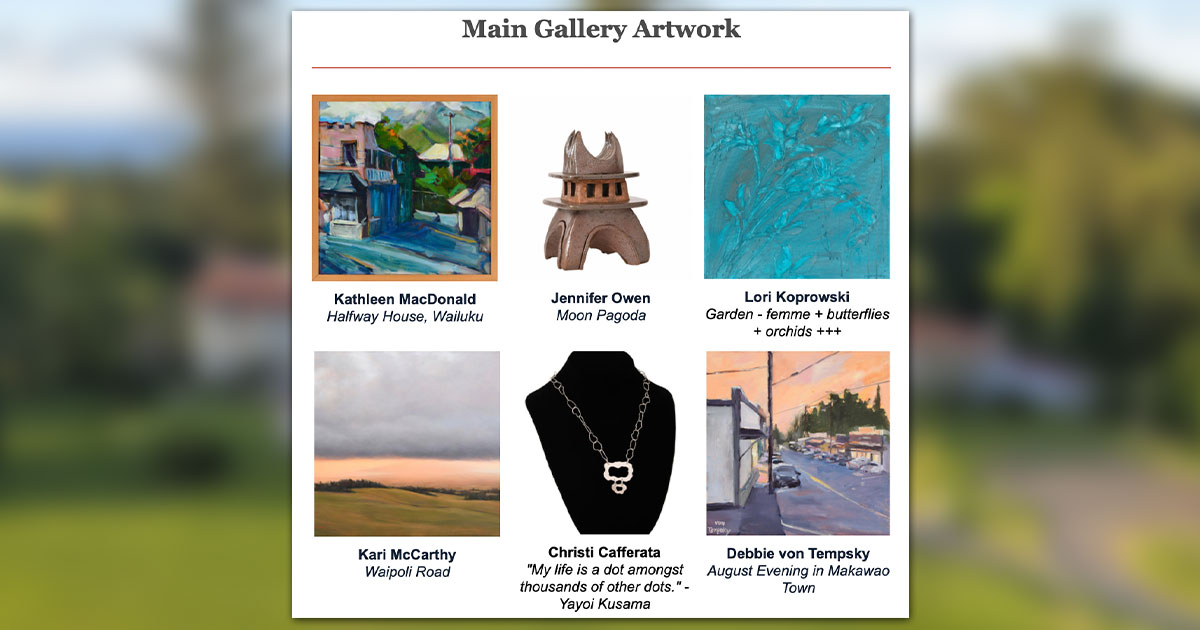 Last Day for Bidding in Hui Noʻeau Visual Arts Center Online Auction