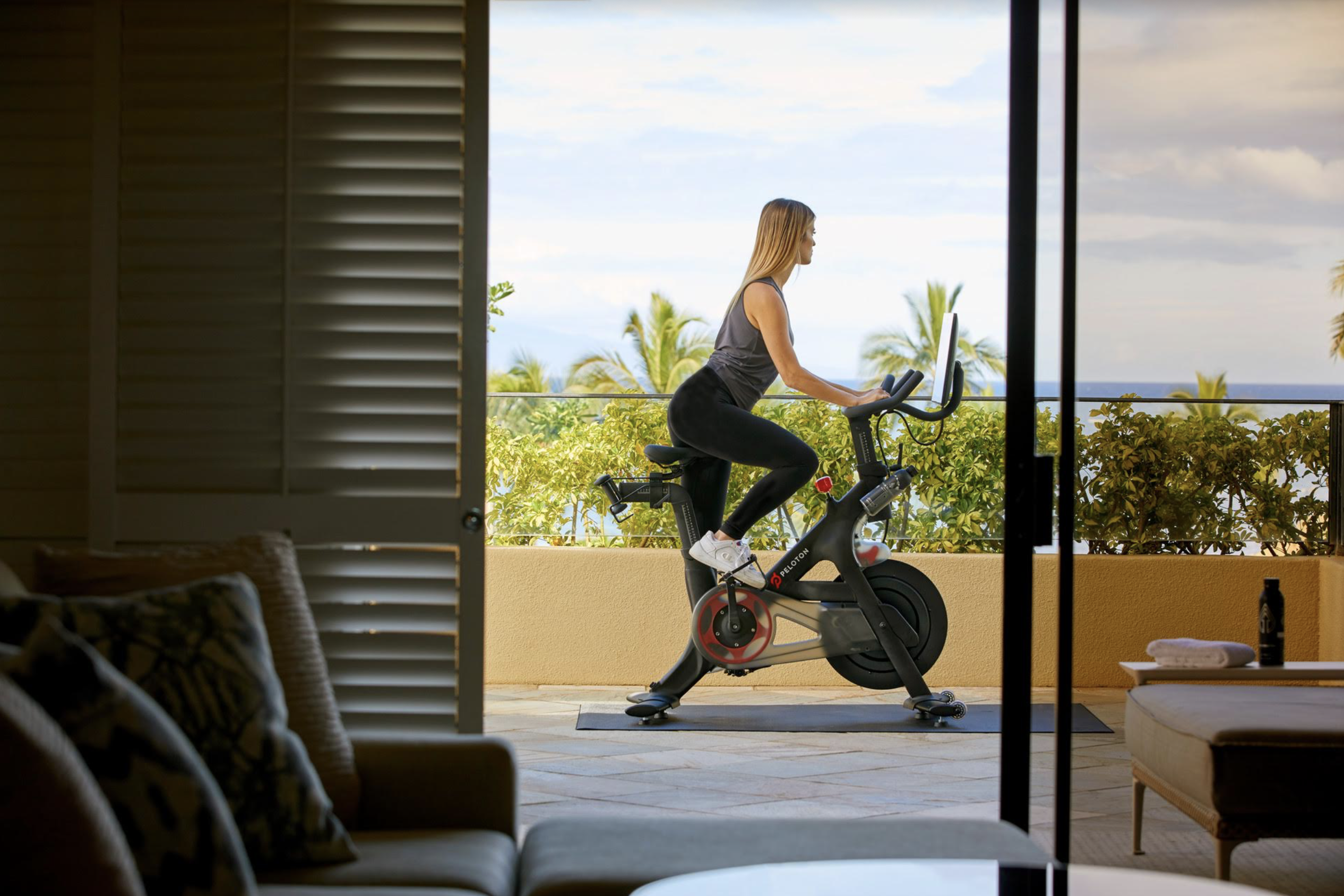 In-Suite Pelotons at Four Seasons Maui