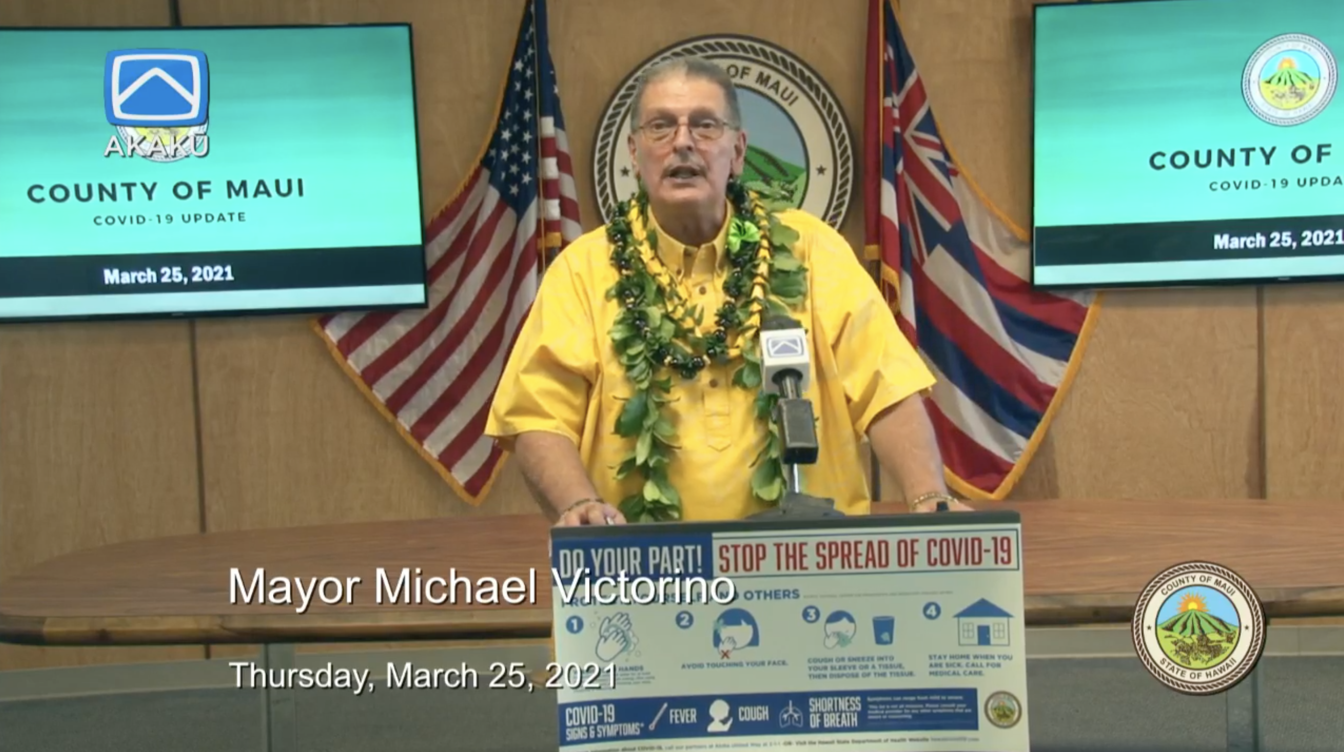 Maui Mayor Presents FY 2022 Budget Proposal
