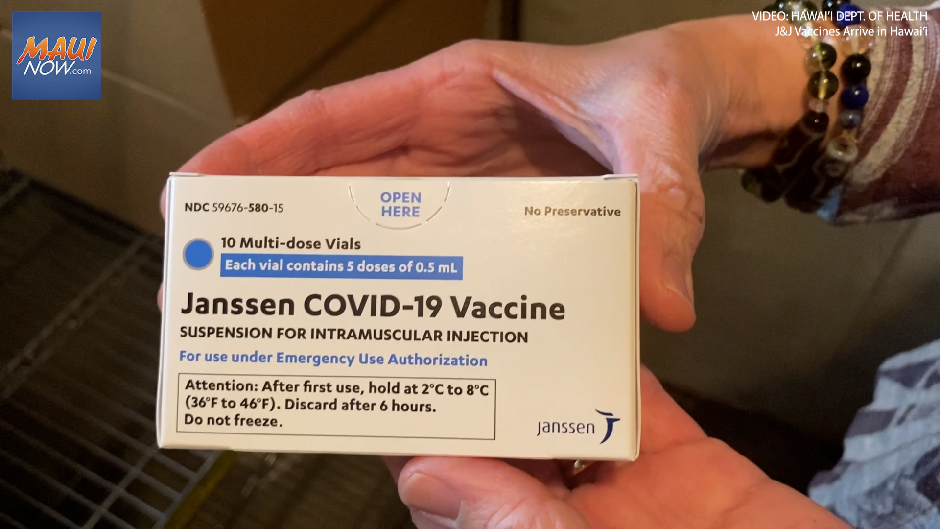 J&J Vaccine Clinics This Week on Maui