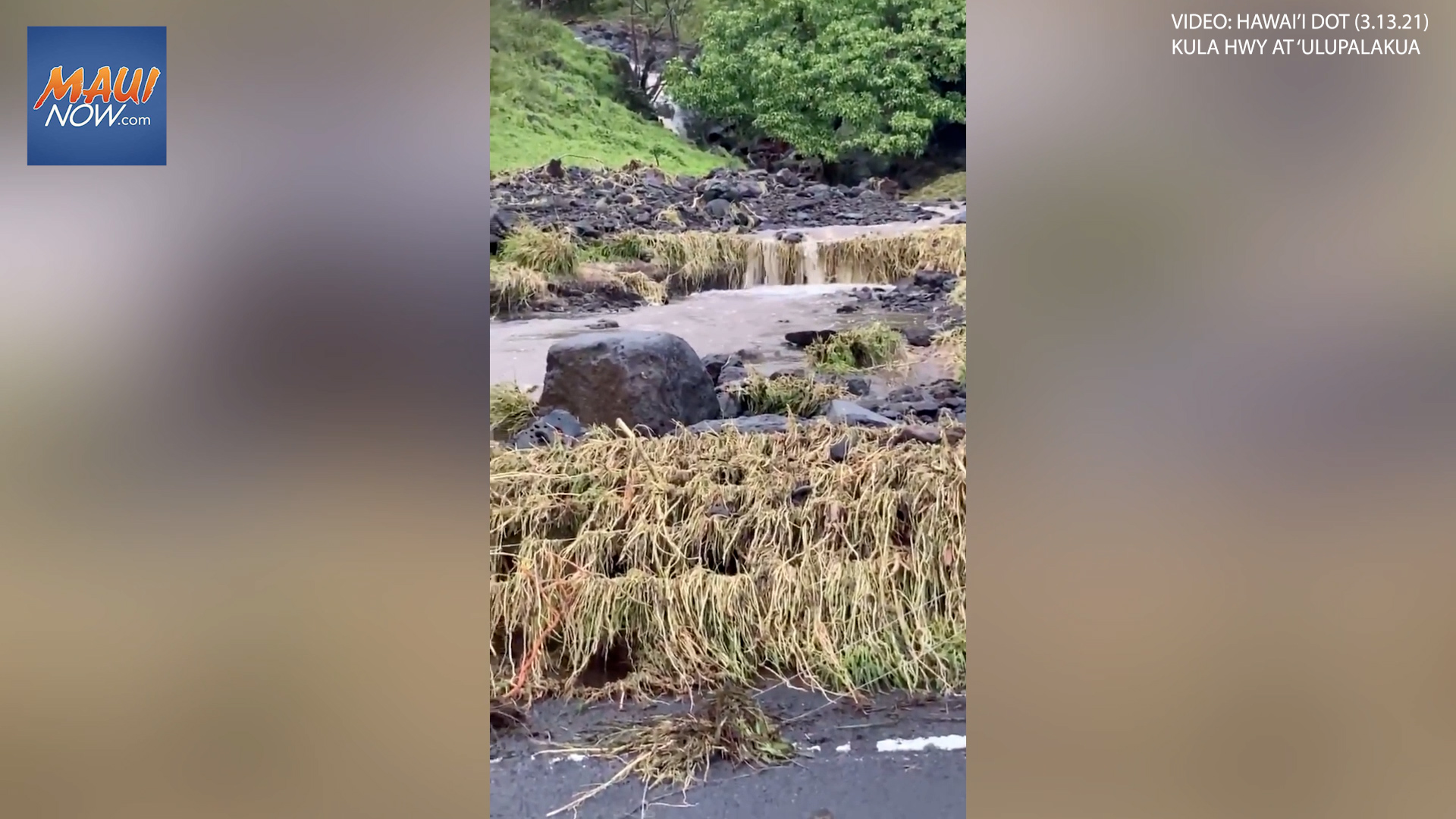 Ongoing Rain Results in Landslides, Road Conditions on Maui