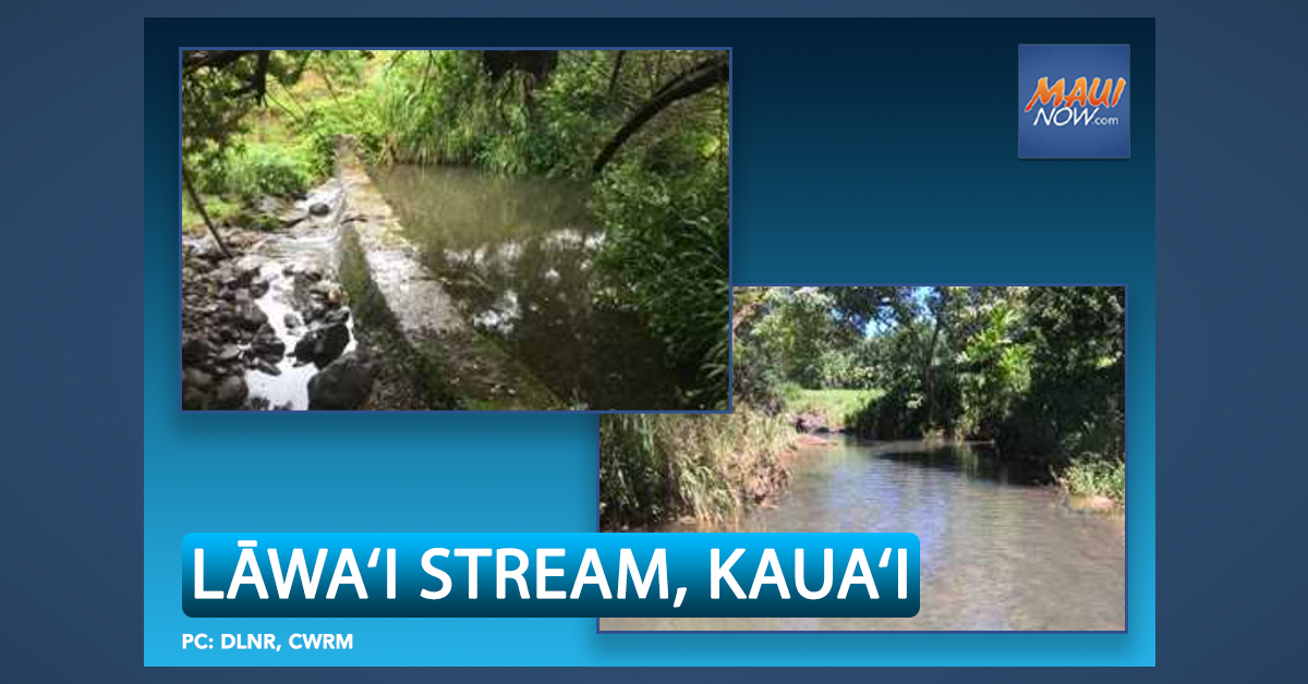 Lāwa'i Stream Flows on Kaua'i Protected for Instream Uses