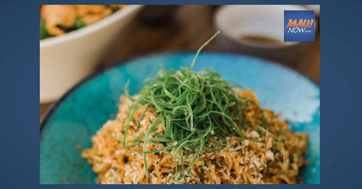 March is National Noodle Month: Lineage Maui Shares Garlic Noodle Recipe