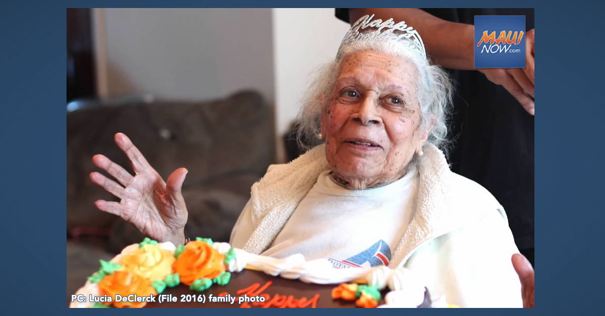 105 Year Old Woman Born on Maui Beats COVID-19 in New Jersey
