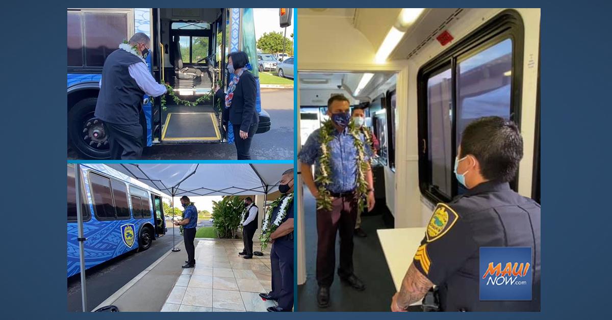 New Mobile Medical Educational Unit Blessed at Kīhei Police Station